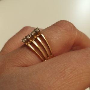 Vintage ESPO gold filled ring